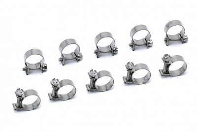 QTY 10 HPS Stainless Steel Fuel Injection Hose Clamps 7/16
