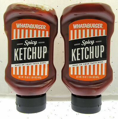 """Whataburger Spicy Ketchup """"Wake Up You Taste Buds"""" ~ 20oz Bottle ..."""