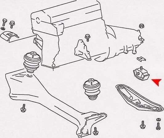 Manual Trans Mount Rear PEP BOYS URO-000949 for sale