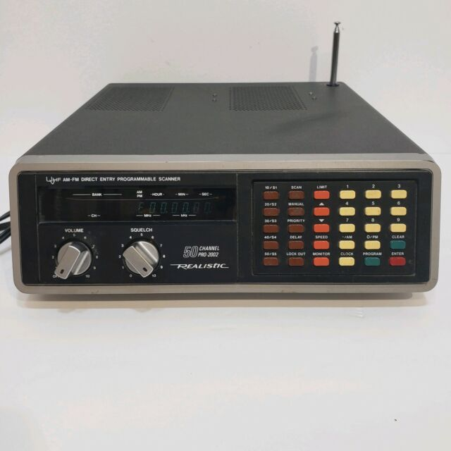 Radio Shack Realistic Pro-2002 50 Channel Programable Police Scanner for sale online | eBay