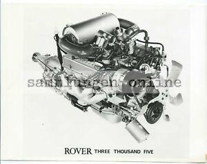 Rover 3005 Engine Block Motor Press Photo Photography Photo Car Motor Sports