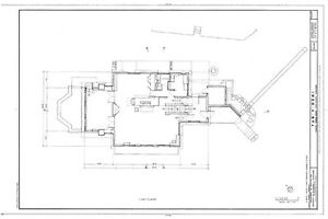 Frank Lloyd Wright Prairie House plans, architectural