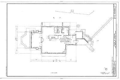 Frank Lloyd Wright Prairie House plans, architectural