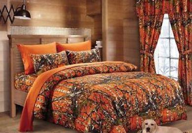 Orange Camo Bedding Ebay
