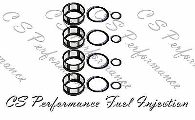 Fuel Injector Seal Kit Filters Viton Orings for 96-04