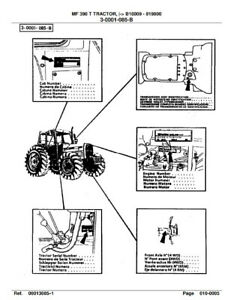 Massey FERGUSON-TRACTOR-mf390t after b18009-PARTS MANUAL