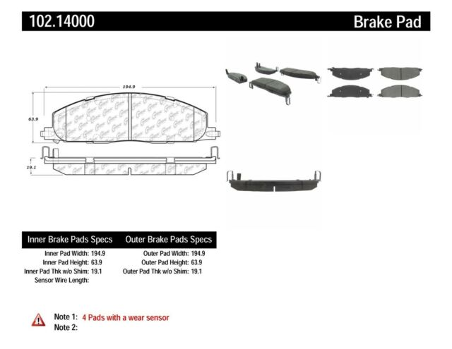 Disc Brake Pad Set-C-TEK Metallic Brake Pads Rear Centric