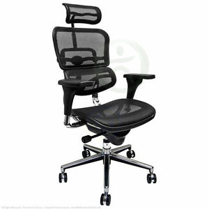 raynor ergohuman chair christmas covers the range new black mesh office me7erg ebay chargement de l image