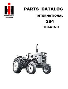 IH 284 Tractor Parts Catalog Book Reproduction