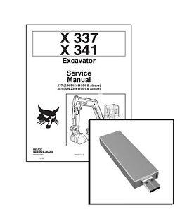 Bobcat X 337 X 341 Excavator Workshop Service Repair