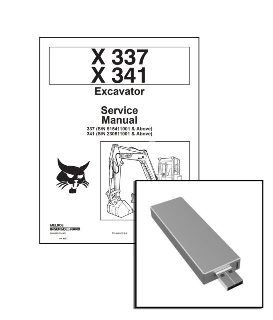 Bobcat X337 & X341 Excavator Service Manual 6900380 for