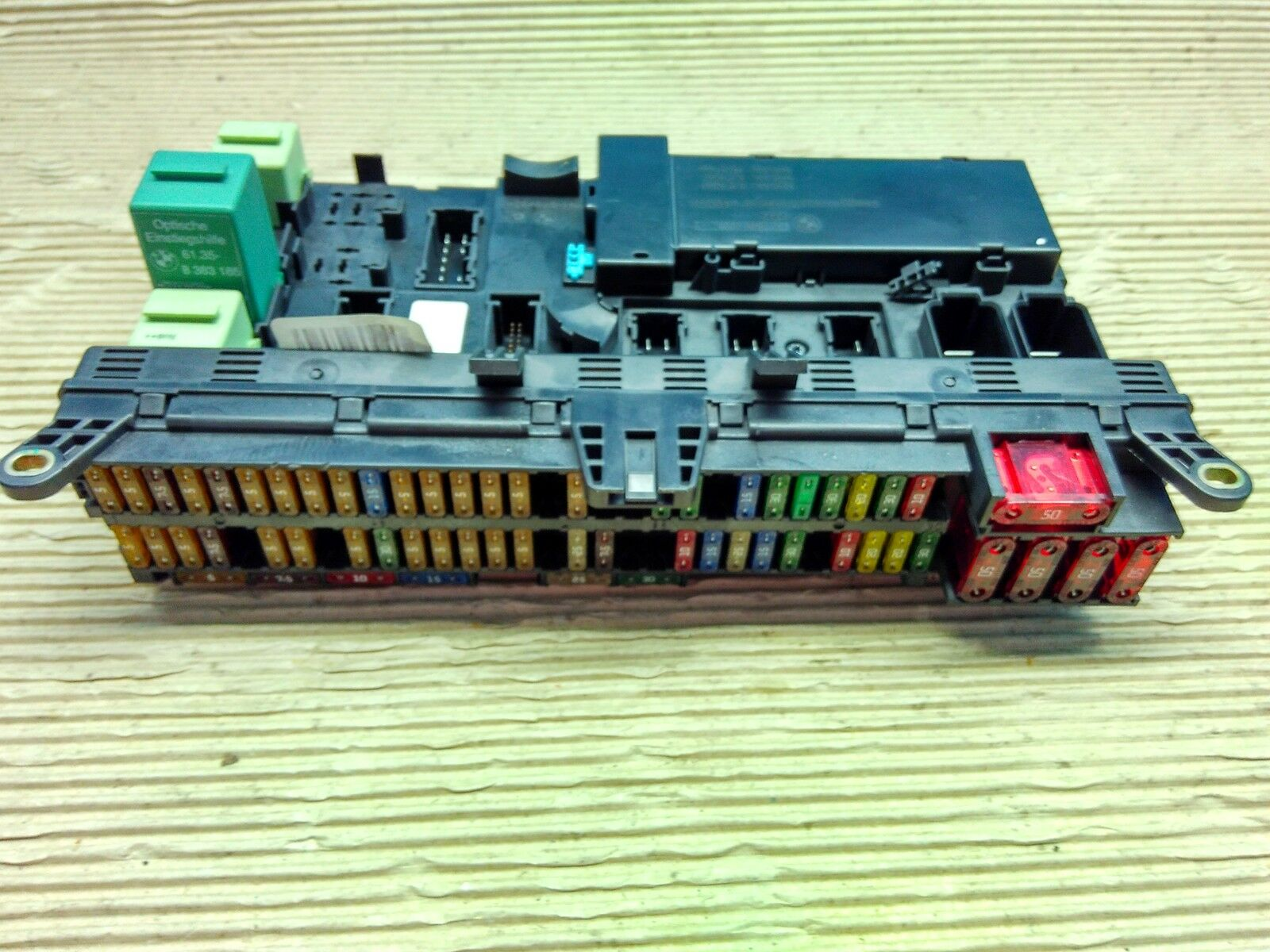 hight resolution of bmw x5 e53 fuse box relay board 6907395 8380409