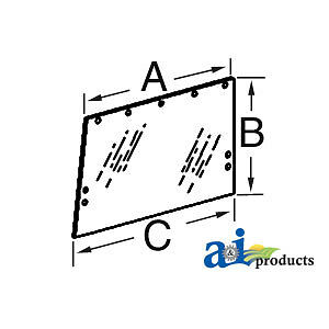 John Deere Parts GLASSRH/LH SIDE CAB WIND R50757 8970,8960