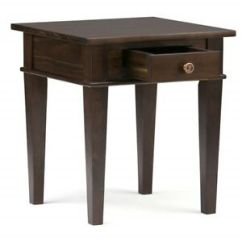 Small Wooden Chair Hanging Kanes End Table Living Room Furniture Side With Storage Image Is Loading