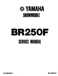 New Yamaha BR 250 F Snowmobile Repair Manual 1981 onwards