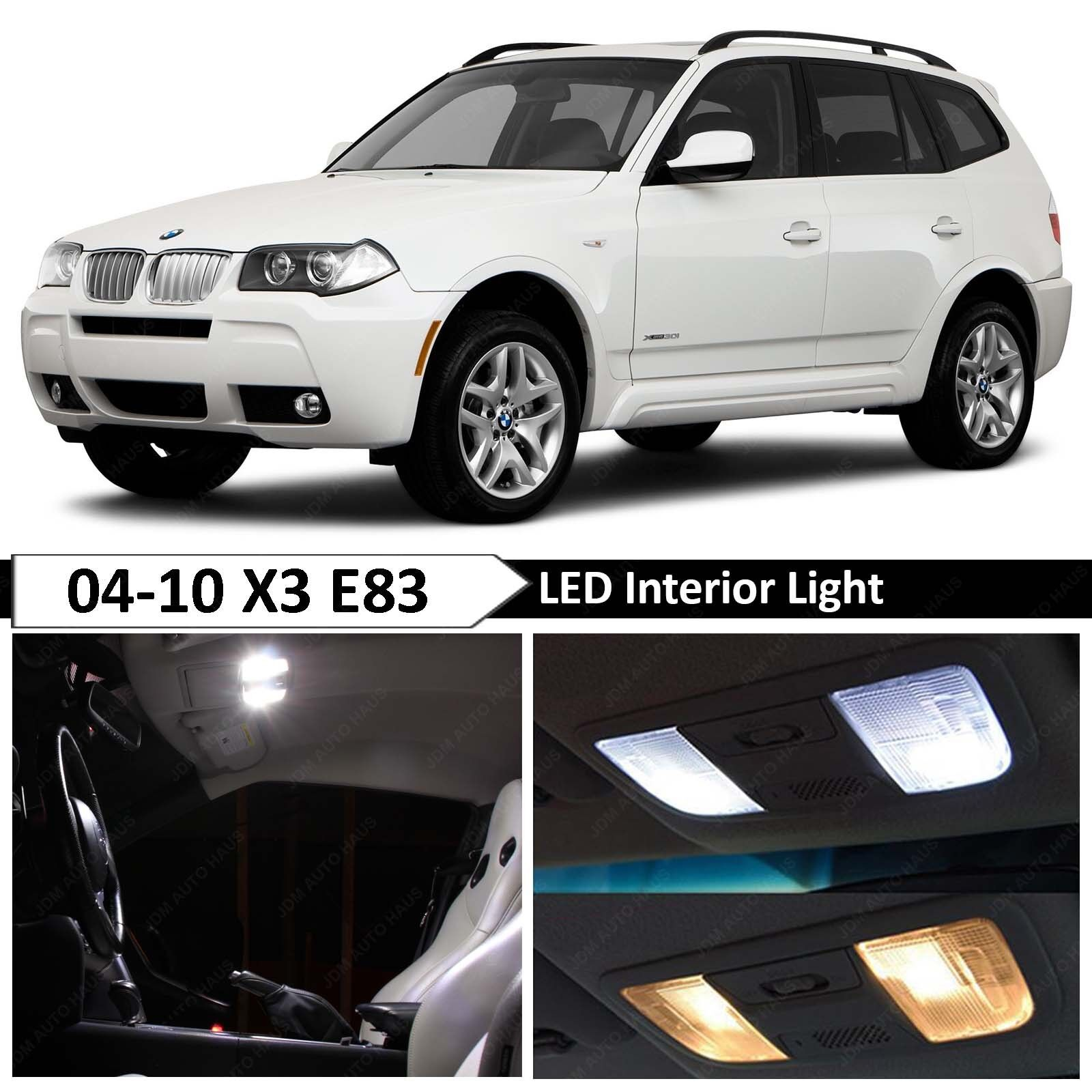 hight resolution of details about 13 pcs white error free interior led light package kit fit 2004 2010 bmw x3 e83