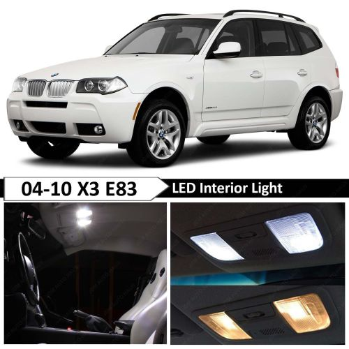 small resolution of details about 13 pcs white error free interior led light package kit fit 2004 2010 bmw x3 e83