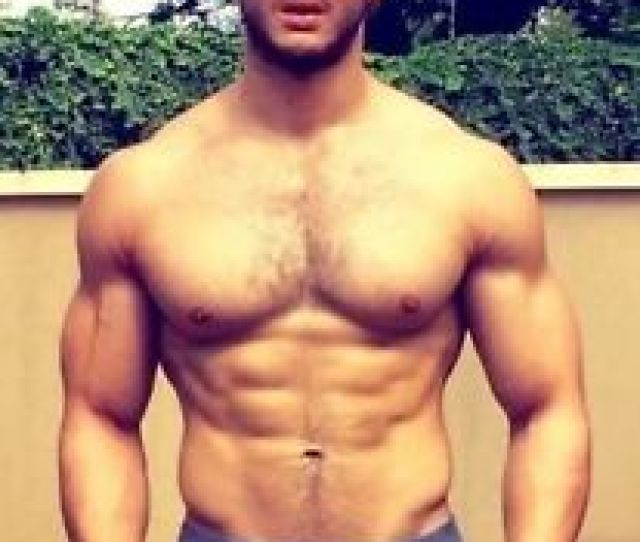 Image Is Loading Shirtless Male Muscular Jock Hairy Chest Ab Beard