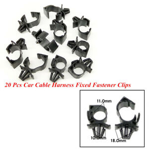 20 Pcs Car Wire Cable Fixed Clips Corrugated Pipe Tie Wrap