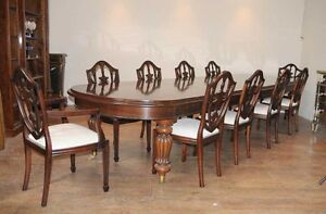 10 chair dining table set living spaces accent chairs victorian federal suite ebay image is loading