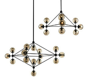 Image Is Loading Modo Chandelier Glass Dna Pendant Lamp Ceiling Light