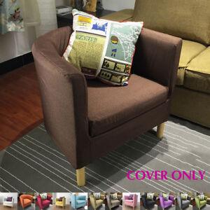 one arm sofa slipcover addison lazy boy chair slip cover seat decor for ikea ektorp image is loading