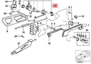 Genuine BMW E32 E34 Door Lock Cylinder Left Repair Kit OEM