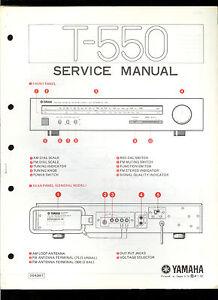 Orig Factory Yamaha T-550 Hi-Fi Stereo Tuner Service