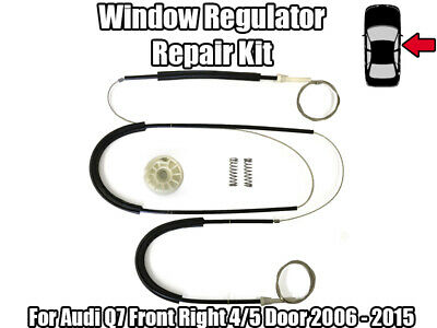 1x Window Regulator Repair Kit For Audi Q7 Front Right 4/5