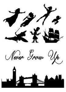 Peter Pan, Wendy, Never Grow Up London Skyline Silhouette