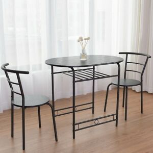 2 chair dining set recover room chairs 3 pcs table and home kitchen breakfast bistro details about pub furniture