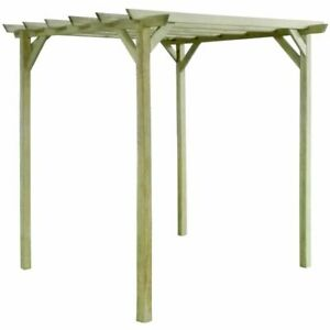 details sur vidaxl bois de pin impregne pergola de jardin support de plantes arche voute