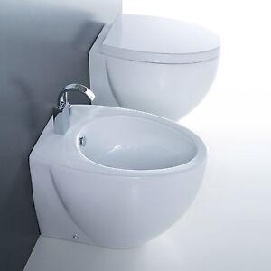 Sanitari filomuro pavimento design bagno moderno vaso  bidet  copri wc 55 cm  eBay