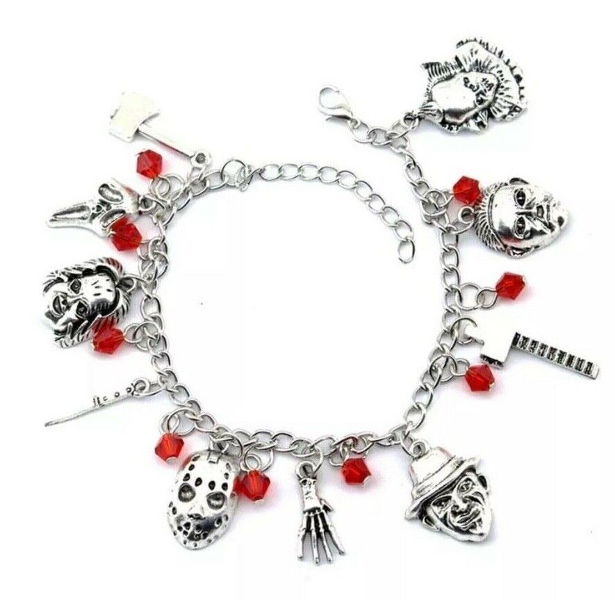 US Horror Movie Charm Bracelet Gift Chuckie Pennywise