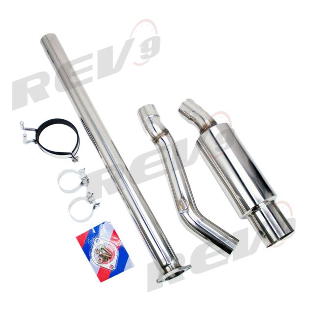 Single Exit Cat-Back Exhaust Kit Stainless 3 Inch Pipe For