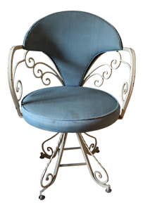 seng chicago chair what is a prayer 1960s vintage wrought iron bikini swivel ebay image loading