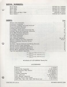 1966 MERCURY OUTBOARD MARK 35AM,35AE MERC 350-1 2-CYL