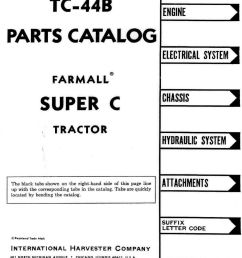farmall super c parts manual complete wiring diagrams [ 1069 x 1600 Pixel ]