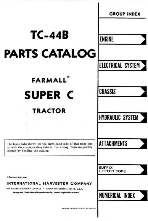 small resolution of farmall super c parts manual complete wiring diagrams