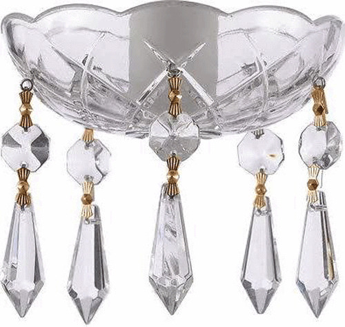 Asfour Crystal 30 Lead Bobeche Lamp Chandelier Parts With Gold Bowtie Ebay