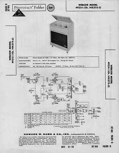 1959 WEBCOR 4923-1 AMPLIFIER SERVICE MANUAL PHOTOFACT