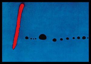 detalles de joan miro bleu ii poster imagen son impresiones artisticas con marco de aluminio en negro 70x100cm ver titulo original