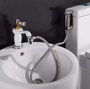 details about m24 adapter sink valve diverter faucet to hose adapter kitchen bathroom brass