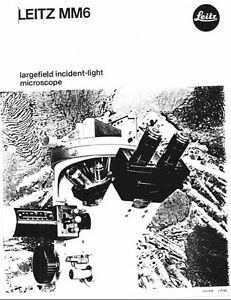 Leitz MM6 Largfield Incident-light Microscope Brochure on