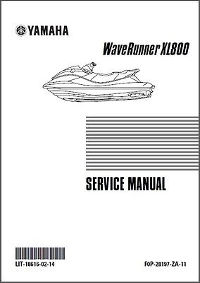 Yamaha Waverunner XL800 Jet Ski Service Repair Manual CD