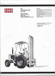 Original Case 580 Construction King Fork Lift Sales