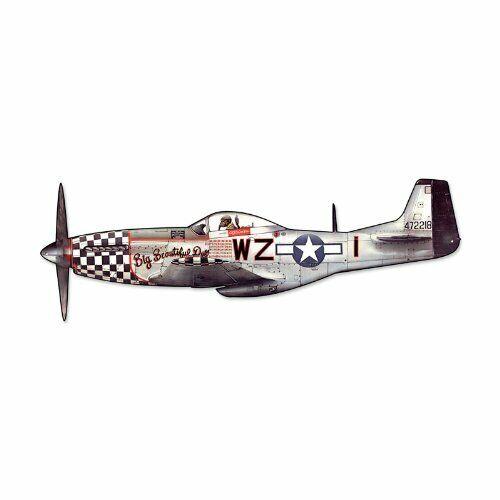 North American Aviation P-51 Mustang Cutout Metal Sign