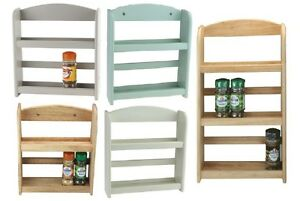 details about wall mounted spice rack herbs jar storage holder stand 2 3 tier kitchen rack