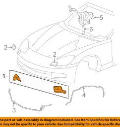chevrolet gm oem corvette headlight head light lamp washer wiper nozzle 10447310 for sale online [ 1500 x 1197 Pixel ]