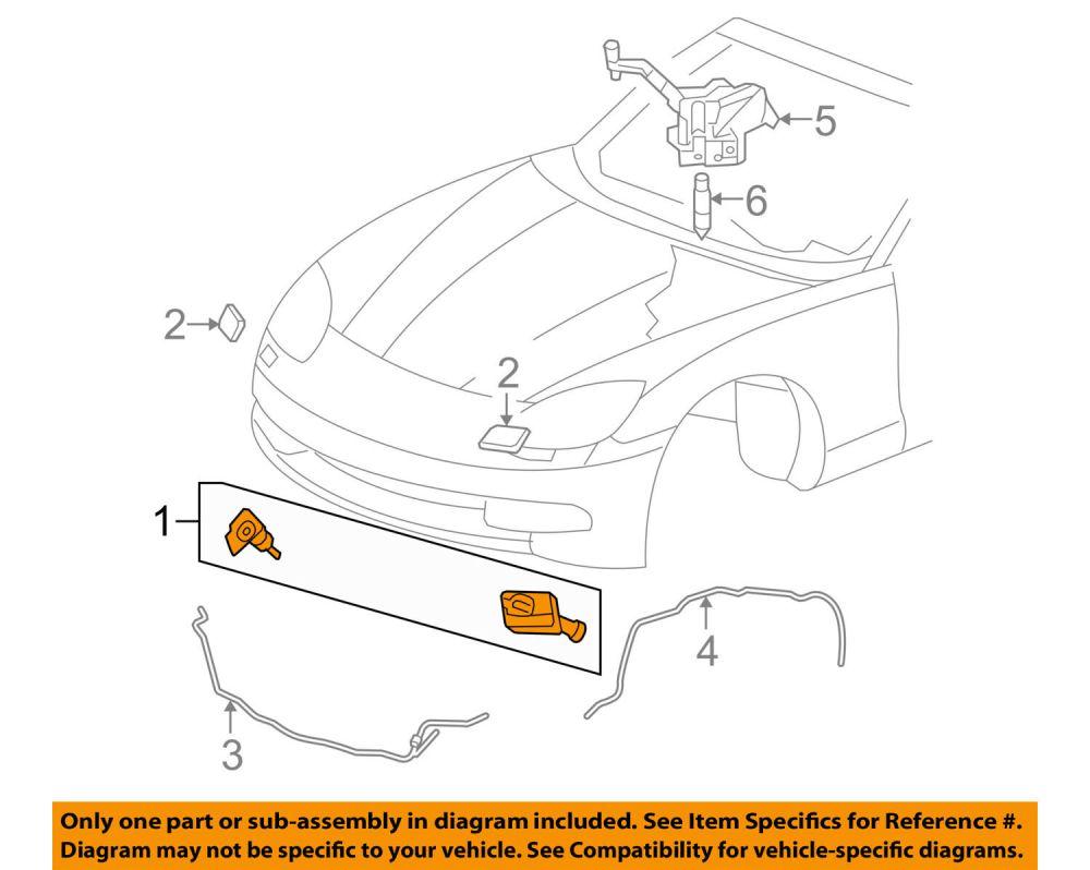 medium resolution of chevrolet gm oem corvette headlight head light lamp washer wiper nozzle 10447310 for sale online